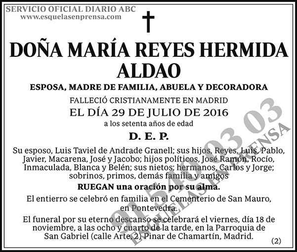 María Reyes Hermida Aldao